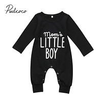 Brand born Toddler Infant Baby Boys Romper Long Sleeve Jumpsuit Playsuit Little Boy Outfits Black Clothes