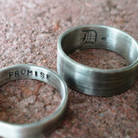 His and Hers Promise Rings by DaddyDDesign on Etsy