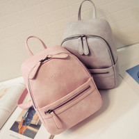 Women Backpack New Fashion Casual PU Leather ladies feminine backpack for teenage girls school bag solid mini Small backpack