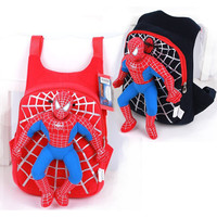 New High Quality Cute 3D spiderman boys school bag backpack children bags mochila infantil kids travel bags red black