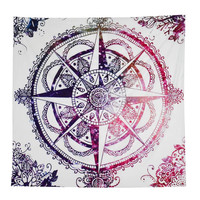 Tribal Compass Tapestry