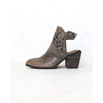 Sbicca - Scorpi Western Inspired Ankle Heeled Mule in Charcoal