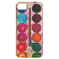 Funny Brush & Hipster Fine Art Paint Color Box Iphone 5 Case from Zazzle.com