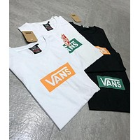 Vans Hot Letter Print Loose T-Shirt I
