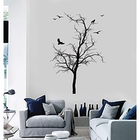 Wall Decal Birds Tree Home Decoration Living Room Vinyl Stickers Unique Gift (ig2905)