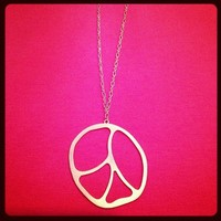 Gold Peace Necklace from La Fede Boutique