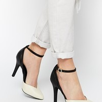 New Look Solidify Monochrome 2 Part Heeled Shoes