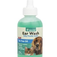 NaturVet Dog & Cat Ear Wash w/Tea Tree Oil 4 oz