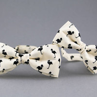 Ivory Bow Ties for Father Son Adult Child Bow Ties Flamingo Bow Tie Ring Baerer Bow Tie Champagne Kids Bow Tie Big and Small Bow Tie Dad Son