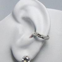 POST Conch Pierced Cartilage Earring 16G Post Sterling Silver Ear Cuff Celtic E108SSPOST16g