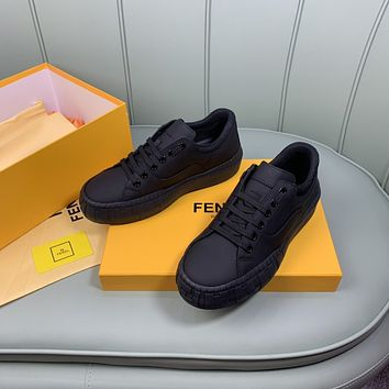 FENDI Men Fashion Boots fashionable Casual leather Breathable Sneakers Running Shoes0513em