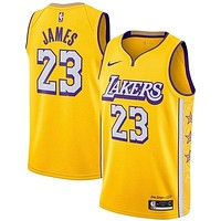 Men's T-Shirt Basketball Uniform NBA Los Angeles Lakers Lebron James #23 Basketball Jersey