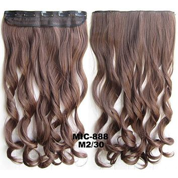 Bath & Beauty 5 Clip in synthetic hair extension hairpieces wavy slice curly hairpiece MIC-888 M2/30,Hair Care,fashion Cosplay ombre 1PC
