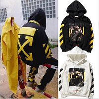 Men and women hooded sets of sweater