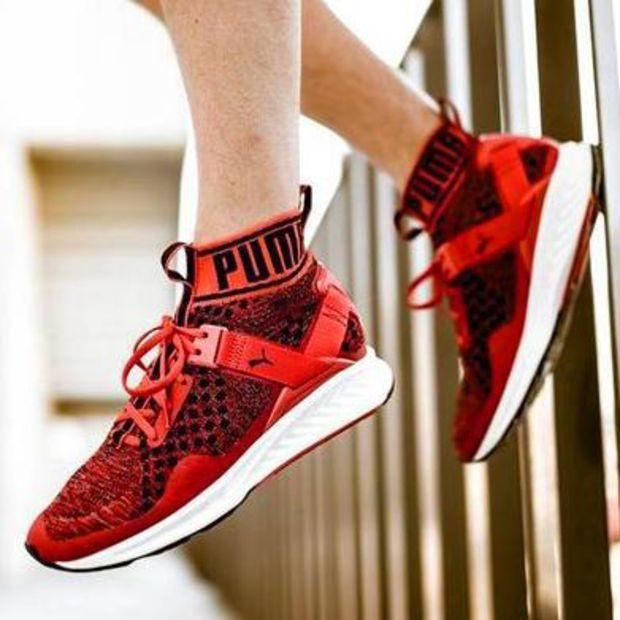 Image of Puma High Top Boys & Men Ignite Evoknit Sneakers Running Shoes Sport Shoes