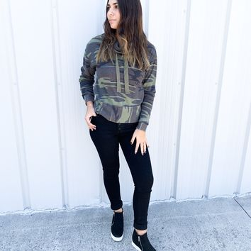 Camo Cowl Neck Waffle Thermal by Z Supply
