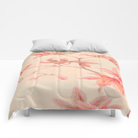 Japanese Maple Leaves Comforters by PureVintageLove
