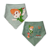 Disney Peter Pan Bib Set for Baby 2 Pack New with Tags