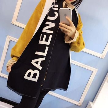 Balenciaga Women Fashion Cashmere Warm Cape Scarf Scarves