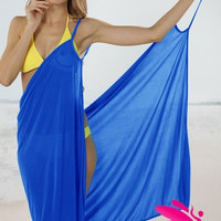 le Jane Sexy Solid Colors Beach Cape Towel Tank Dress = 1932741060