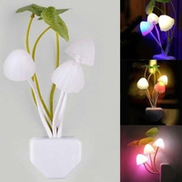 New Fantastic Mushroom Light Sense Control Led Night Wall Lamp US Adapter = 1946591364
