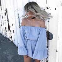 2017 Summer Off The Shoulder Romper [9818991117]