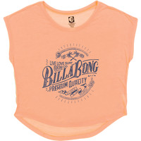 Billabong Women's Surfing It T-Shirt Just Peachy