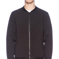 Stampd Perforated Neoprene Bomber Jacket in Black