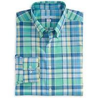 Full Throttle Classic Fit Sport Shirt in Starboard Plaid by Southern Tide