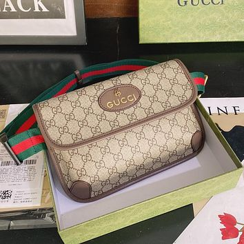 GG Denim embroidery letter stitching color men's and women's belt bag