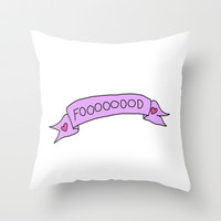 Food Throw Pillow by hayimfabulous