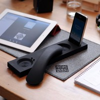 Native Union Curve Bluetooth iDock Handset w/ Base  MM03I-BLK-HG  - Black High Gloss (iphone 3gs and iphone 4)