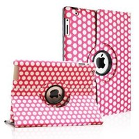 Amazon.com: FINTIE (Polka Dot Pattern) 360 Degrees Rotating Smart Cover PU Leather Case for the new iPad / iPad 3 / iPad 2 - Hot Pink & White: Computers & Accessories