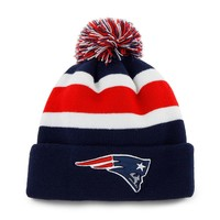 '47 Brand New England Patriots Break Away Knit Cap - Youth, Size: One Size (Blue)