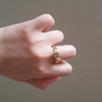18k gold, silver initial ring, alphabet ring, name ring, minimalist ring, stackable ring