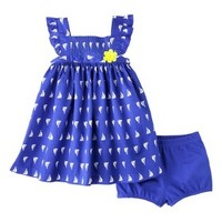 Just One You™Made by Carter's® Newborn Girls' 2 Piece Set - Blue/White/Yellow