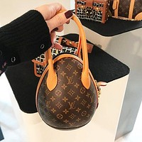 Bunchsun LV Louis Vuitton Fashion Women Shopping Leather Dinosaur Egg Handbag Tote Shoulder Bag Crossbody Satchel