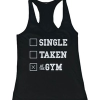 Women's Work Out Tank Top - At the Gym - Cute Workout Tanks, Lazy Tanks, Gym Clothes