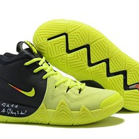 Nike Kyrie 4 EP Black/Fluorescent Green Basketball Shoe