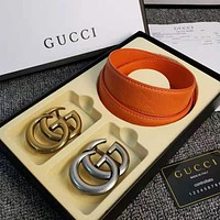 GG Classic Popular Woman Men Fashion Smooth Buckle Leather Belt