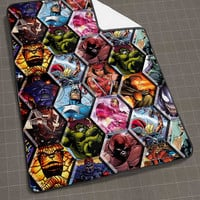 Megapost Marvel Comics blanket, funny blanket, cute and awesome blanket