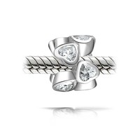 Bling Jewelry White Hearts Charm