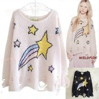 East Knitting NP 083 shooting star lenncn sweater sweaters poncho pullover knit 2014 free shipping-in Pullovers from Women's Clothing & Accessories on Aliexpress.com   Alibaba Group