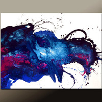 Abstract Canvas Art Painting Huge 40x30 Contemporary Original Wall Art Paintings by Destiny Womack -  dWo - Raw Emotions