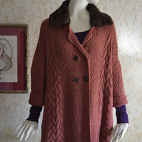 "Knitted coat ""Ash Rose"""