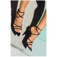 On Point Strappy Heel