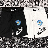 NIKE Summer New Fashion Hook Floral Letter Print Shorts Black
