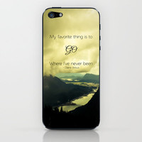 Where I've Never Been iPhone & iPod Skin by Ann B.