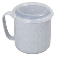 Starmaid Microwave Soup Mug with Lid, 15-Ounce, Granite Gray