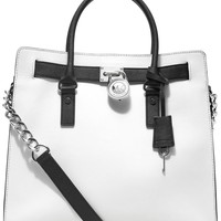 MICHAEL Michael Kors Large Hamilton Chain Tote with Silver Hardware